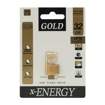فلش مموری USB 3.0 ایکس انرژی مدل Gold ظرفیت 32 گیگابایت